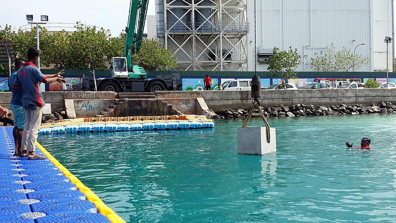 MRDC Provided Concrete Anchor Blocks for New Swimming Platforms